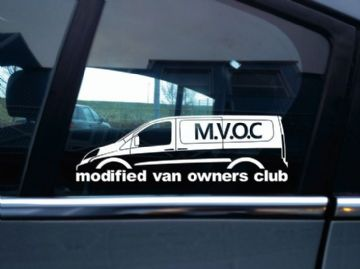 MVOC modified van owners club sticker - for Fiat Scudo 2nd gen LWB van (v1)